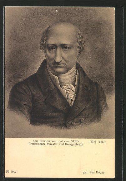 AK Karl Freiherr von und zum Stein, Preussischer Minister und Reorganisator, Befreiungskriege