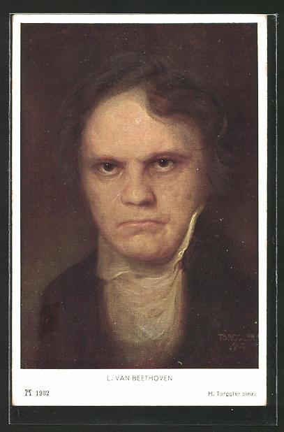 Künstler-AK Komponist Ludwig van Beethoven