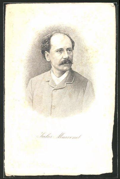 Künstler-AK Jules Massenet, französischer Opernkomponist