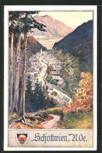 AK Deutscher Schulverein Nr. 452: Schottwien, Ansicht des Ortes