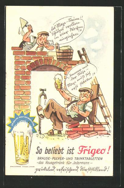 AK Reklame für Frigeo, Brausepulver und Trinktabletten