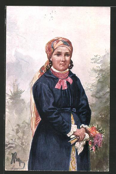 AK Eine polnische Landwirtin aus Wilanow
