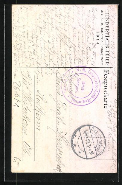 Künstler-AK Angelo Jank: Hundertjahrfeier des K. B. Infanterie-Leibregiments, historische Uniform, Bajonett 1