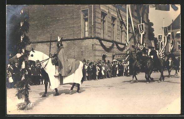 Foto-AK Rees, 700-Jahrfeier, Historischer Umzug, Reitergruppe