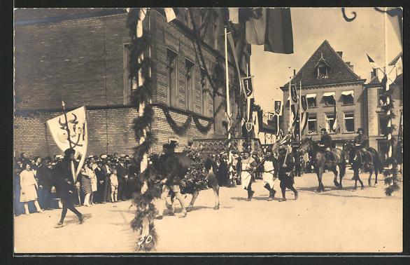 Foto-AK Rees, 700-Jahrfeier, Historischer Umzug