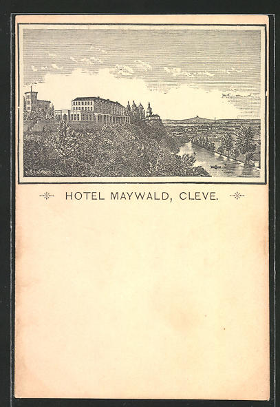 AK Cleve, Blick zum Hotel Maywald