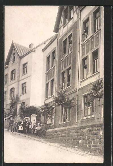AK Lüdenscheid, Ortspartie mit Haus in der Lohmühlenstrasse 5