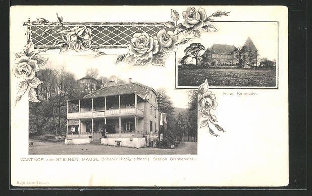 AK Blankenstein, Gasthof zum Steinen-Haus, Haus Kemnade