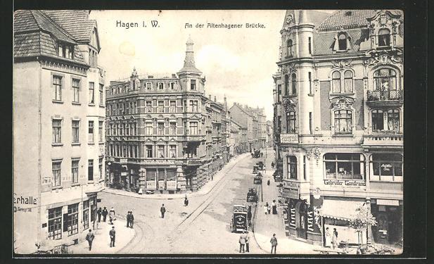 AK Hagen i. W., An der Altenhagener Brücke