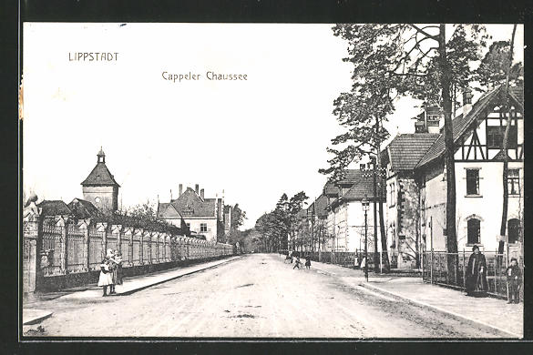 AK Lippstadt, Kinder in der Strasse Cappeler Chaussee