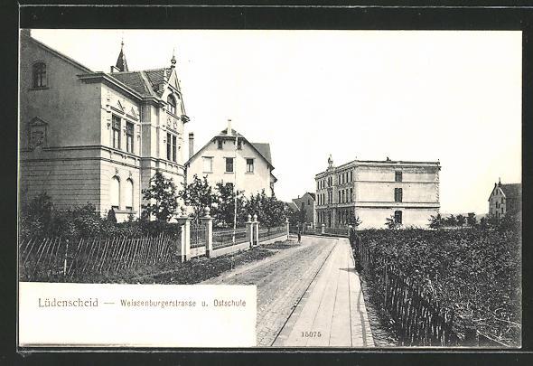 AK Lüdenscheid, Weissenburgerstrasse und Ostschule