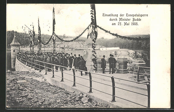 AK Breckerfeld, Einweihung der Ennepetalsperre durch Minister Budde am 27. Mai 1905