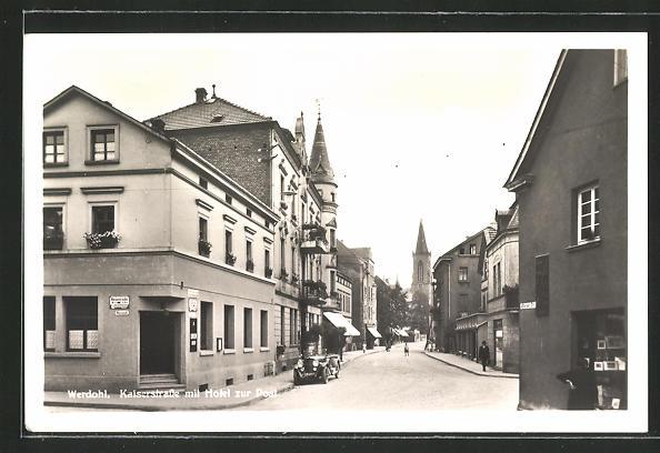 AK Werdohl, Kaiserstrasse mit Hotel zur Post