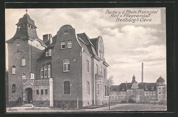 AK Bedburg, Partie v. d. Rhein. Provinzial Heil- und Pflegeanstalt