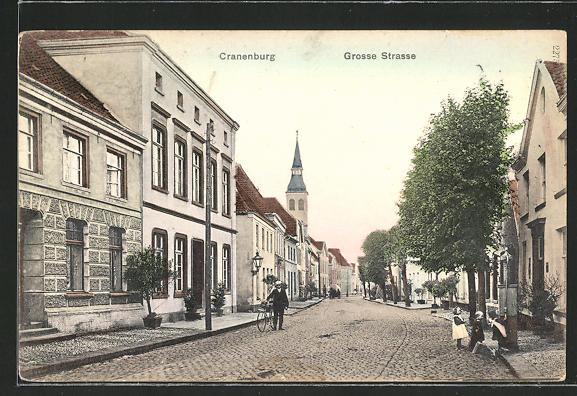 AK Cranenburg, Strassenpartie in der Grosse Strasse