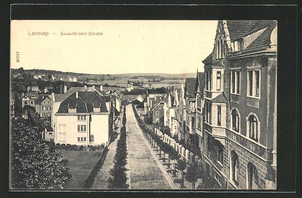 AK Lennep, Blick in die Sauerbronn-Strasse