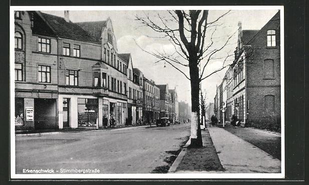 AK Erkenschwick, Blick in die Stimmbergstrasse