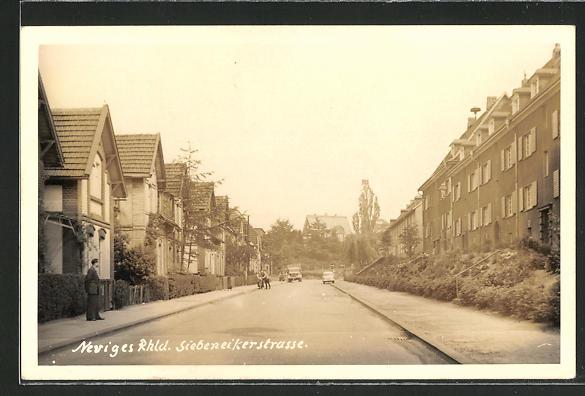 Foto-AK Neviges / Rhld., Blick in die Siebeneikerstrasse