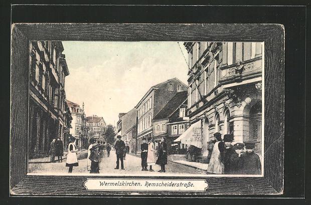 AK Wermelskirchen, Blick in die Remscheiderstrasse