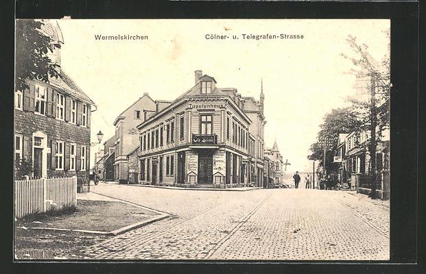AK Wermelskirchen, Partie an der Cölner- und Telegrafen-Strasse