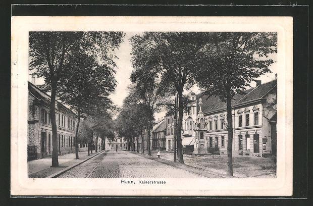 AK Haan, Blick in die Kaiserstrasse