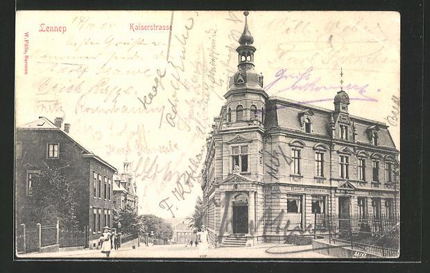 AK Lennep, Partie aus der Kaiserstrasse