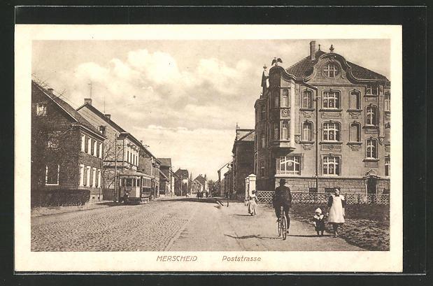 AK Merscheid, Blick in die Poststrasse