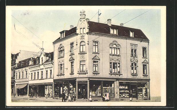 AK Sterkrade, Bahnhofstrasse - Ecke Zur Post