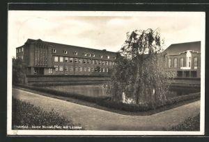 AK Osterfeld, Horst-Wessel-Platz mit Lyzeum