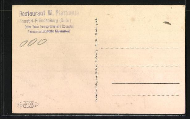 AK Hönnetal-Fröndenberg, Weg zum Gasthof Platthaus 1