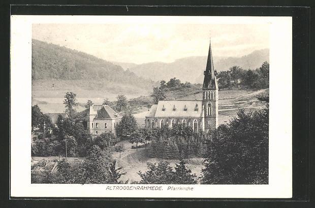 AK Altroggenrahmede, Blick zur Pfarrkirche