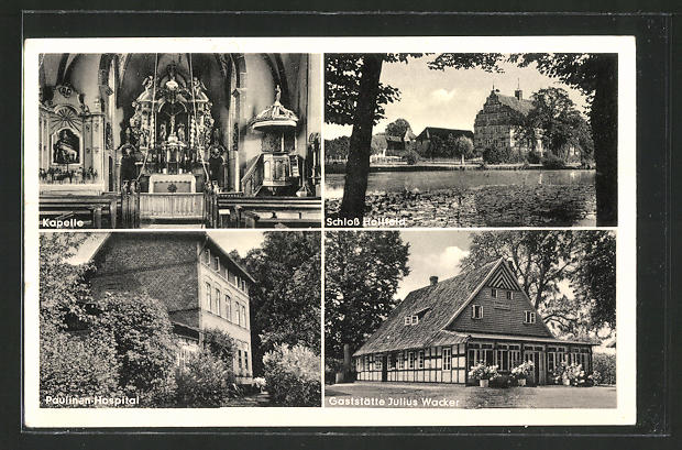 AK Stockkämpen, Gaststätte Julius Wacker, Paulinen-Hospital und Schloss Holtfeld
