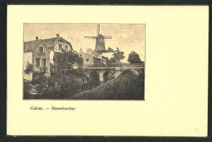 AK Calcar, Hanselaertor mit Mühle