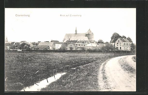 AK Cranenburg, Teilansicht mit Kirche