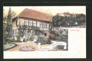 AK Iburg, Gasthof Forsthaus Freudenthal, Schloss Iburg