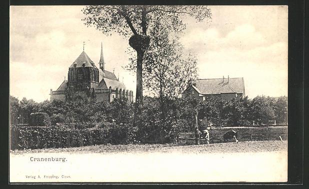 AK Cranenburg, Teilansicht mit Blick zur Kirche