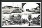 AK Recklinghausen-Hillerheide, Rennbahn, Gertrudisplatz, Blitzkuhlenstrasse & Heidestrasse