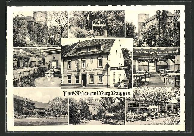 AK Brüggen / Ndrh., Park-Restaurant Burg Brüggen