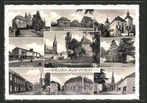 AK Vorst, Kuhstrasse, Clevenstrasse, Haus Brempt, Kath. Schule