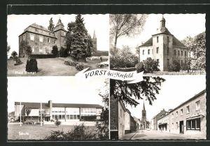 AK Vorst, Haus Brempt, Schule, Clevenstrasse, Haus Niersdonk