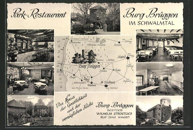 AK Brüggen, Park-Restaurant Burg Brüggen im Schwalmtal