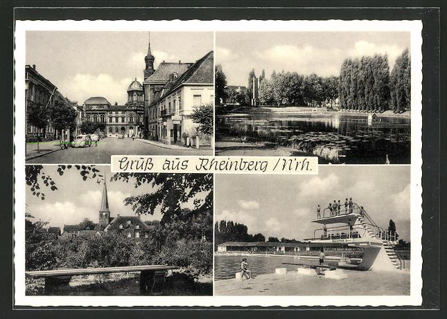 Schwimmbad Rheinberg ak rheinberg niederrhein schwimmbad seepartie ortspartie blick