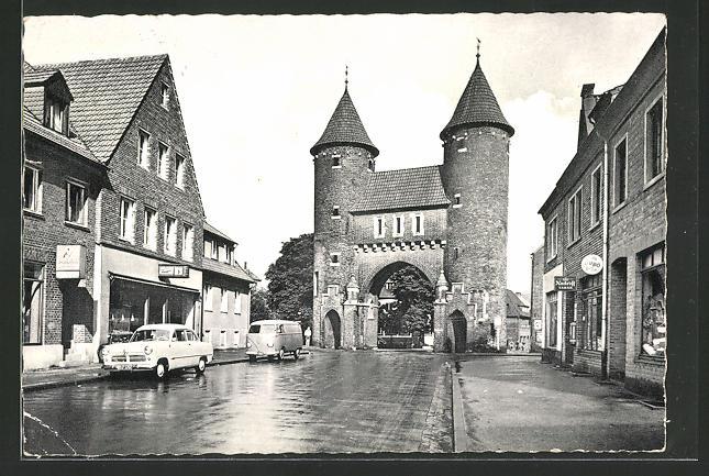 AK Dülmen / Westf., Strassenpartie am Lüdinghauser Tor