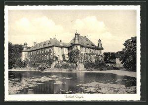 AK Jüchen, Schloss Dyck vom See aus