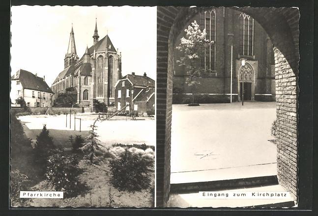 AK Straelen, Pfarrkirche, Eingang zum Kirchplatz