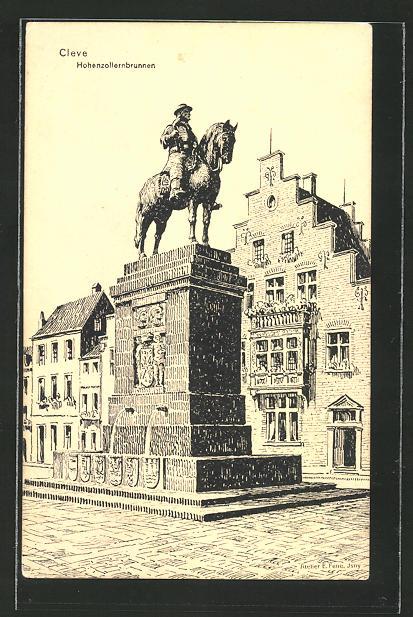 AK Cleve, Partie am Hohenzollernbrunnen