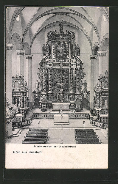 AK Coesfeld, Innere Ansicht der Jesuitenkirche