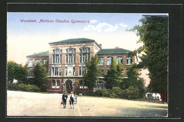 Ak Hamburg Wandsbek Partie Am Matthias Claudius Gymnasium Nr