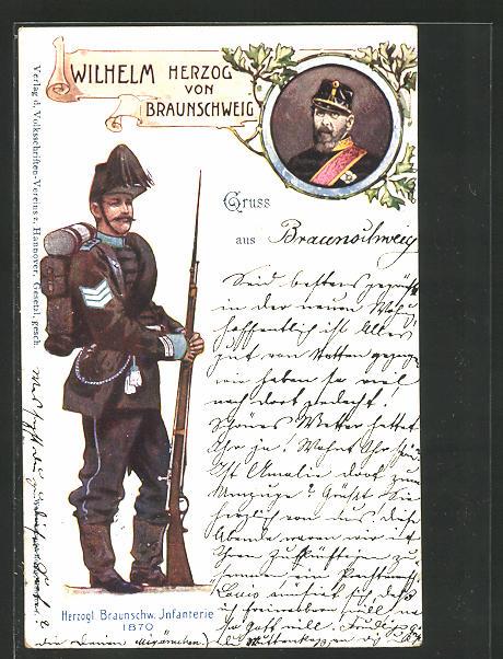 AK Herzogl. Braunschw. Infanterie 1870, Wilhelm Herzog von Braunschweig