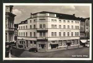 AK Ohligs, Hotel-Restaurant Central aus der Vogelschau
